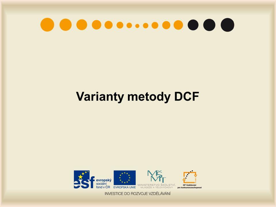 Varianty metody DCF