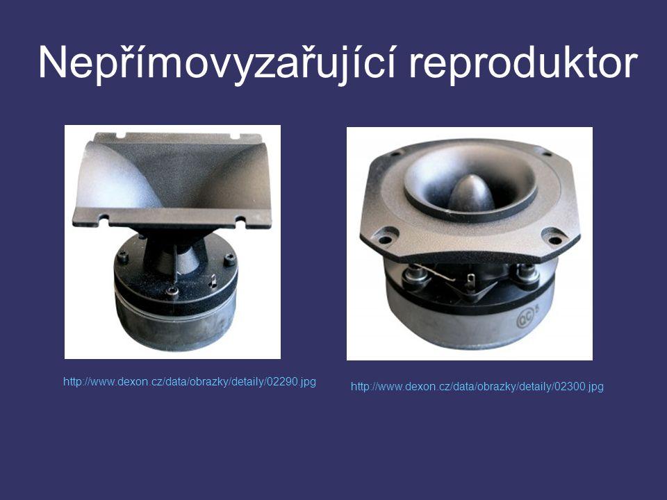 Nepřímovyzařující reproduktor http://www.dexon.cz/data/obrazky/detaily/02300.jpg http://www.dexon.cz/data/obrazky/detaily/02290.jpg
