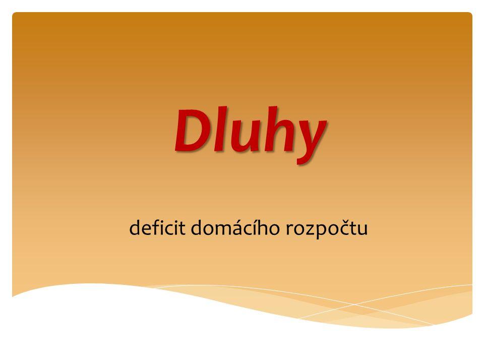 Dluhy deficit domácího rozpočtu
