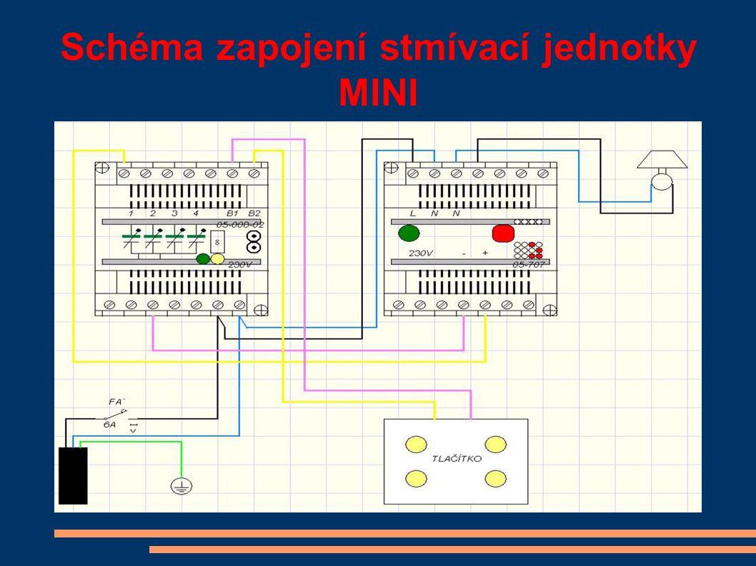 Schéma zapojení stmívací jednotky MINI
