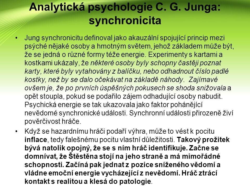 Porozumění symbolickému významu peněz pro patologického hráče považuji za předpoklad úspěšné psychoterapie.