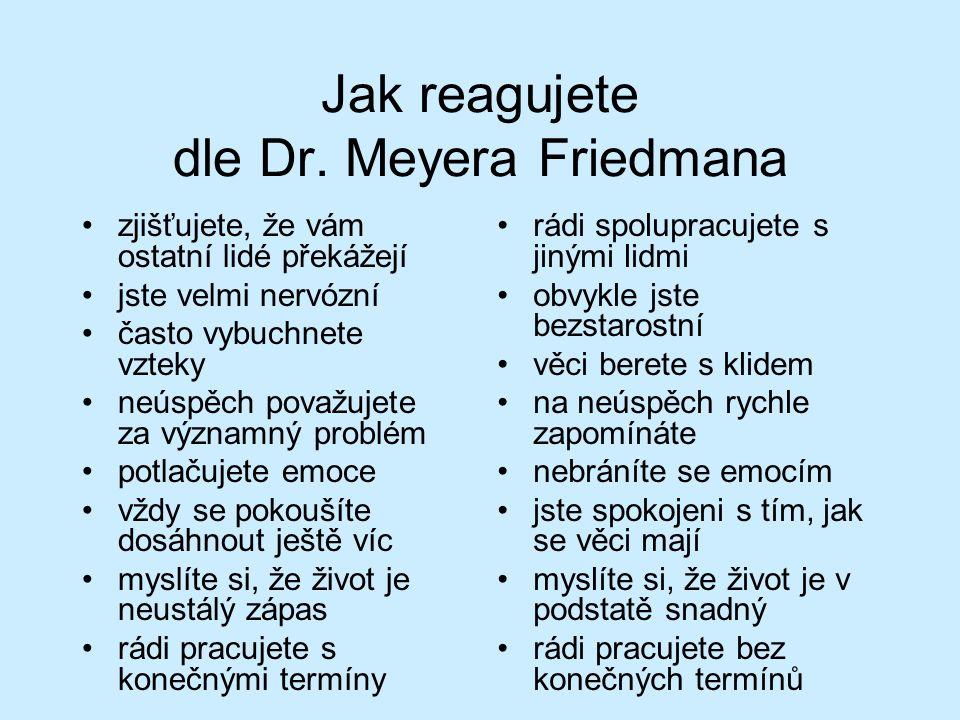Jak reagujete dle Dr.