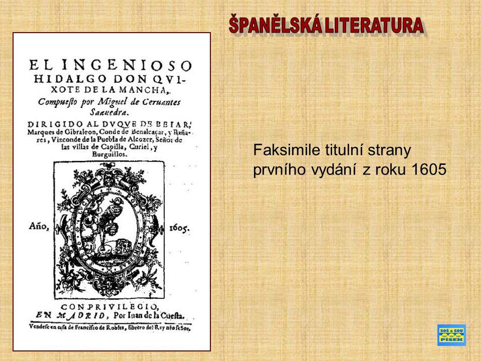 Faksimile titulní strany prvního vydání z roku 1605