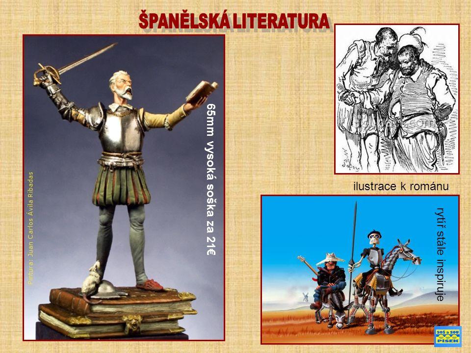ilustrace k románu rytíř stále inspiruje 65mm vysoká soška za 21€