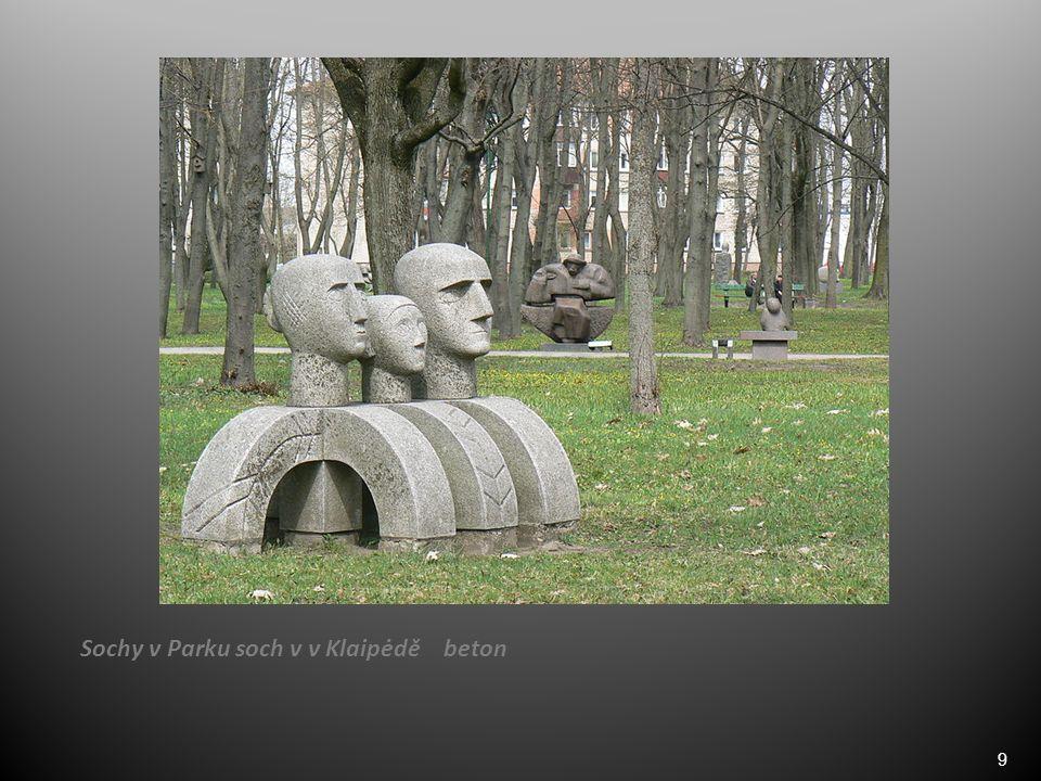 9 Sochy v Parku soch v v Klaipėdě beton
