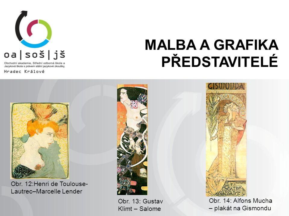 Obr. 13: Gustav Klimt – Salome Obr. 14: Alfons Mucha – plakát na Gismondu Obr.