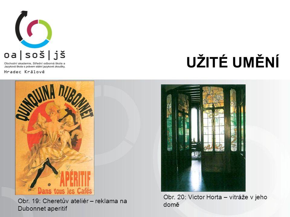 Obr. 20: Victor Horta – vitráže v jeho domě Obr.
