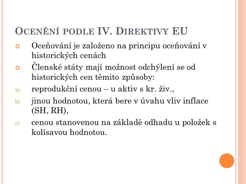 O CENĚNÍ PODLE IV.