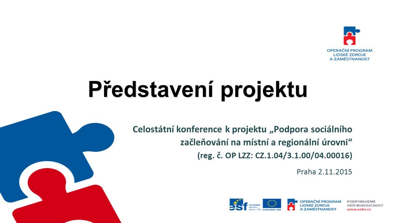 """Představení projektu Celostátní konference k projektu """"Podpora sociálního začleňování na místní a regionální úrovni"""" (reg. č. OP LZZ: CZ.1.04/3.1.00/0"""