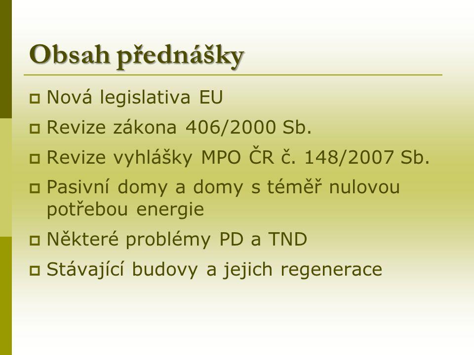Hodnocení energetické náročnosti budov dle vyhl.č.