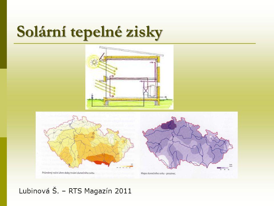 Solární tepelné zisky Lubinová Š. – RTS Magazín 2011