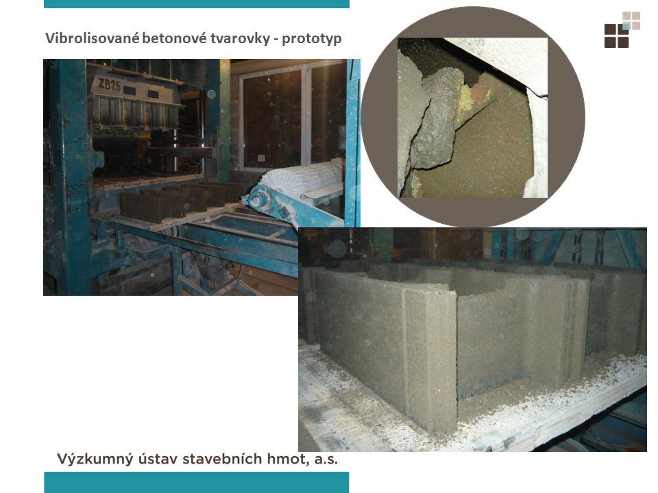 Vibrolisované betonové tvarovky - prototyp