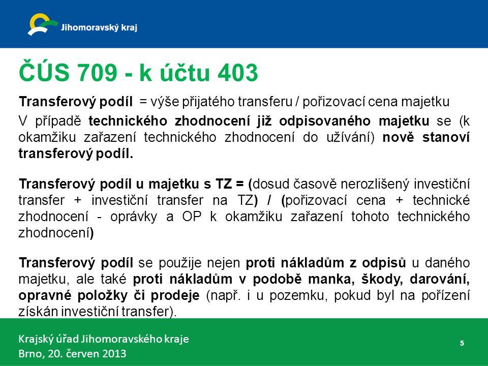 Krajský úřad Jihomoravského kraje Brno, 20. červen 2013 Konsolidační celek Česká republika - § 7 46