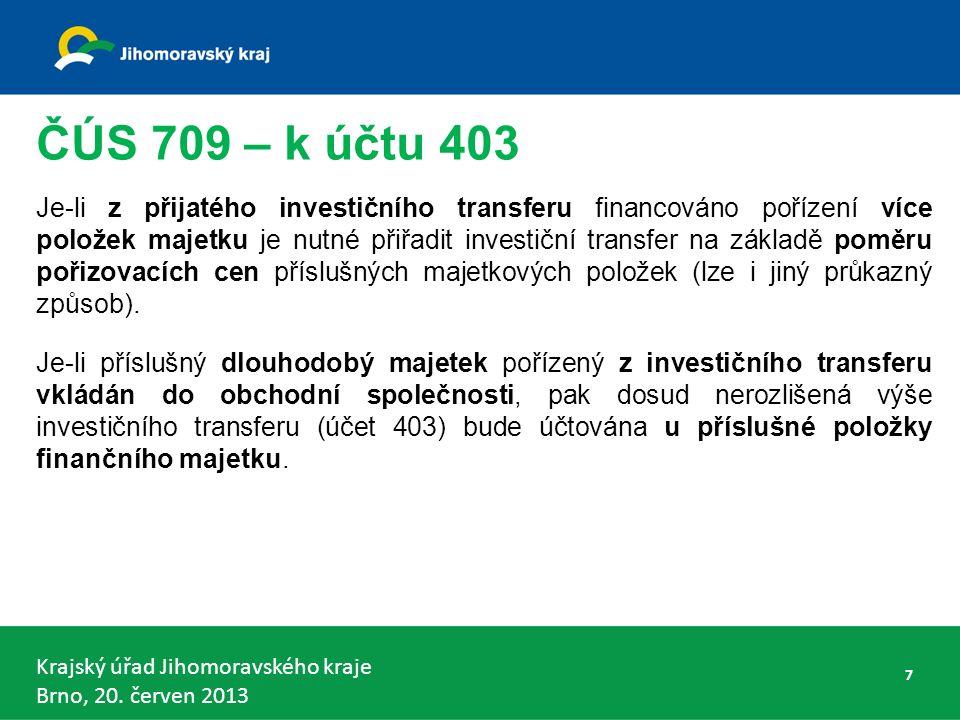 Krajský úřad Jihomoravského kraje Brno, 20.červen 2013 Stanovení vlivu § 8 – podíl na hlas.