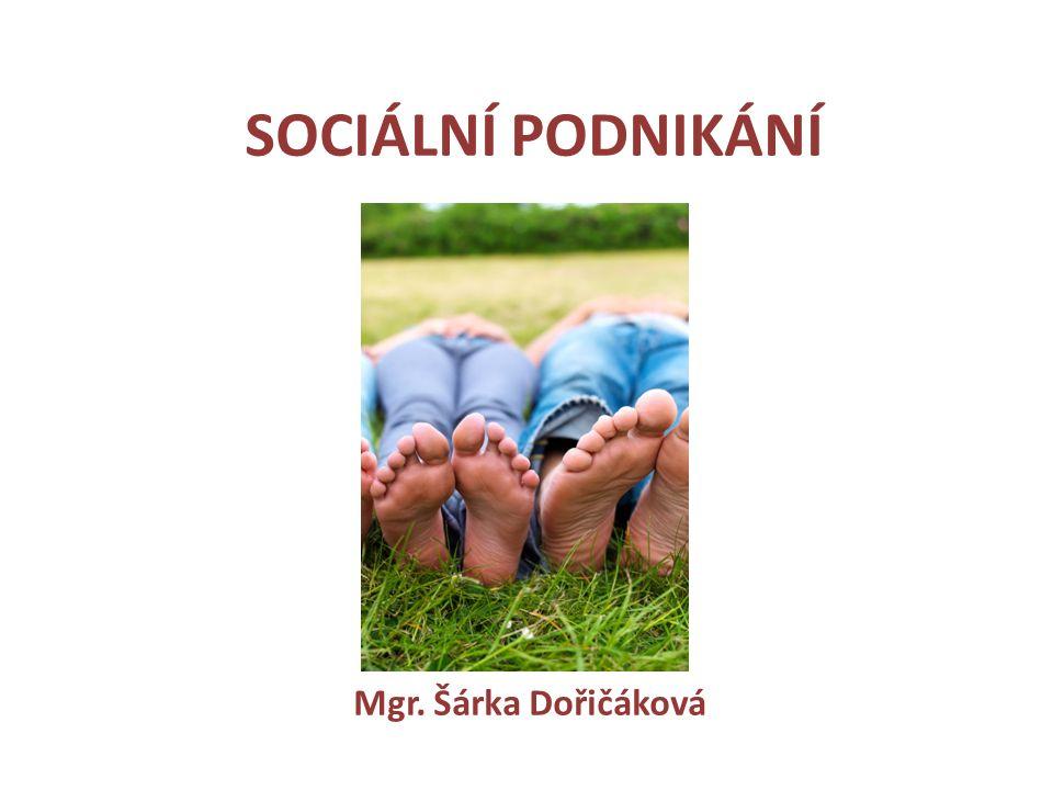 SOCIÁLNÍ PODNIKÁNÍ Mgr. Šárka Dořičáková