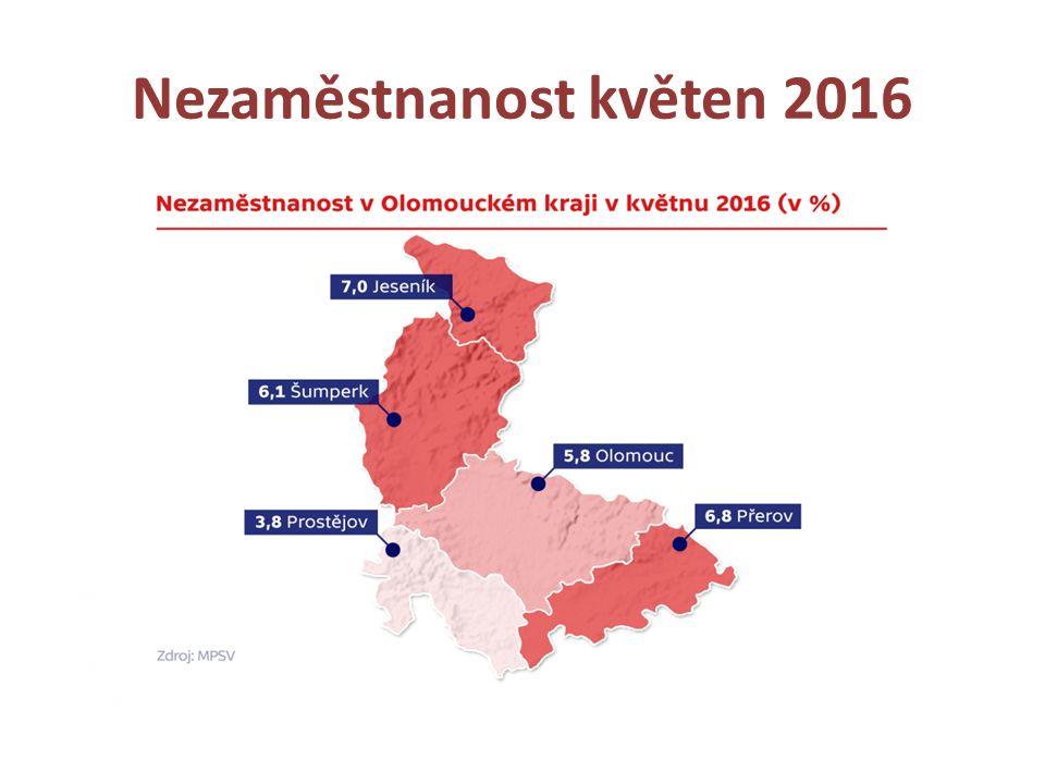 Nezaměstnanost květen 2016