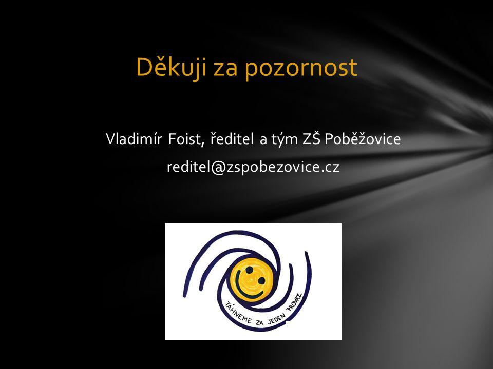 Vladimír Foist, ředitel a tým ZŠ Poběžovice reditel@zspobezovice.cz Děkuji za pozornost