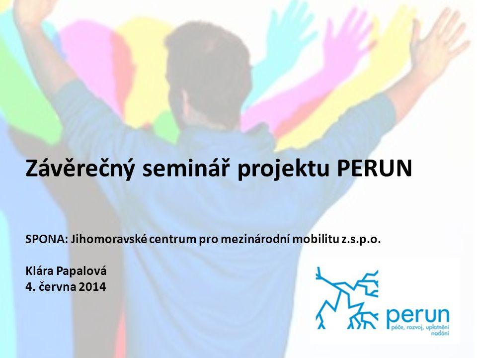 Závěrečný seminář projektu PERUN SPONA: Jihomoravské centrum pro mezinárodní mobilitu z.s.p.o.