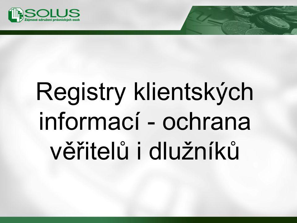 Registry klientských informací - ochrana věřitelů i dlužníků