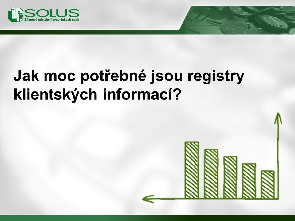 Jak moc potřebné jsou registry klientských informací?