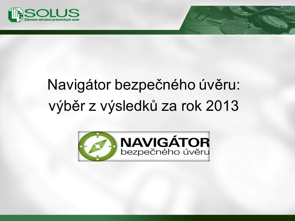 Navigátor bezpečného úvěru: výběr z výsledků za rok 2013