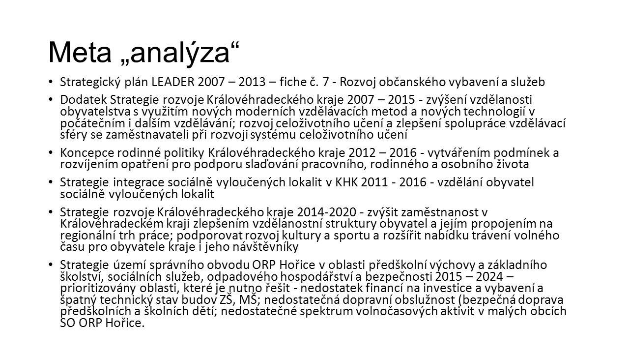 """Meta """"analýza Strategický plán LEADER 2007 – 2013 – fiche č."""