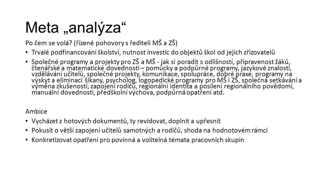 "Meta ""analýza Po čem se volá."