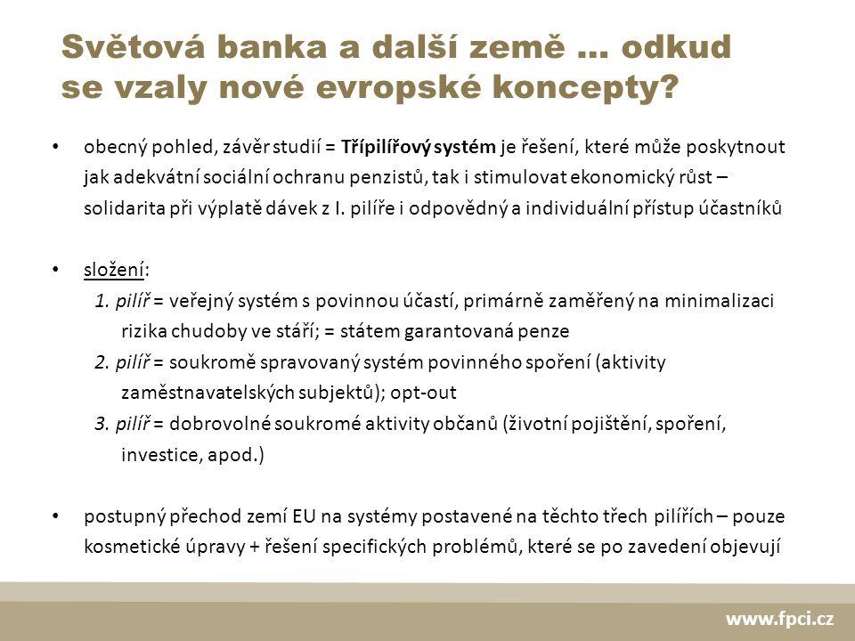 Světová banka a další země … odkud se vzaly nové evropské koncepty.