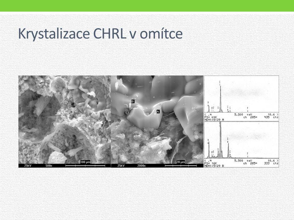Krystalizace CHRL v omítce