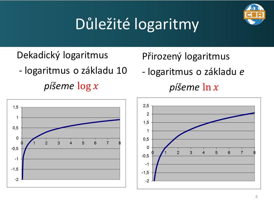 6 Důležité logaritmy