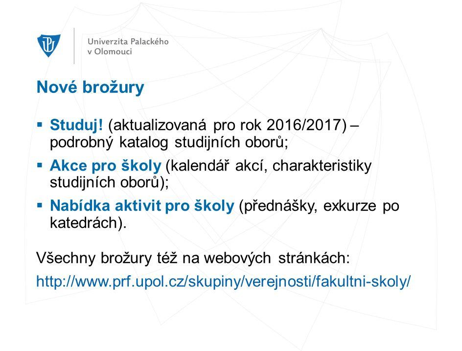 Nové brožury  Studuj.
