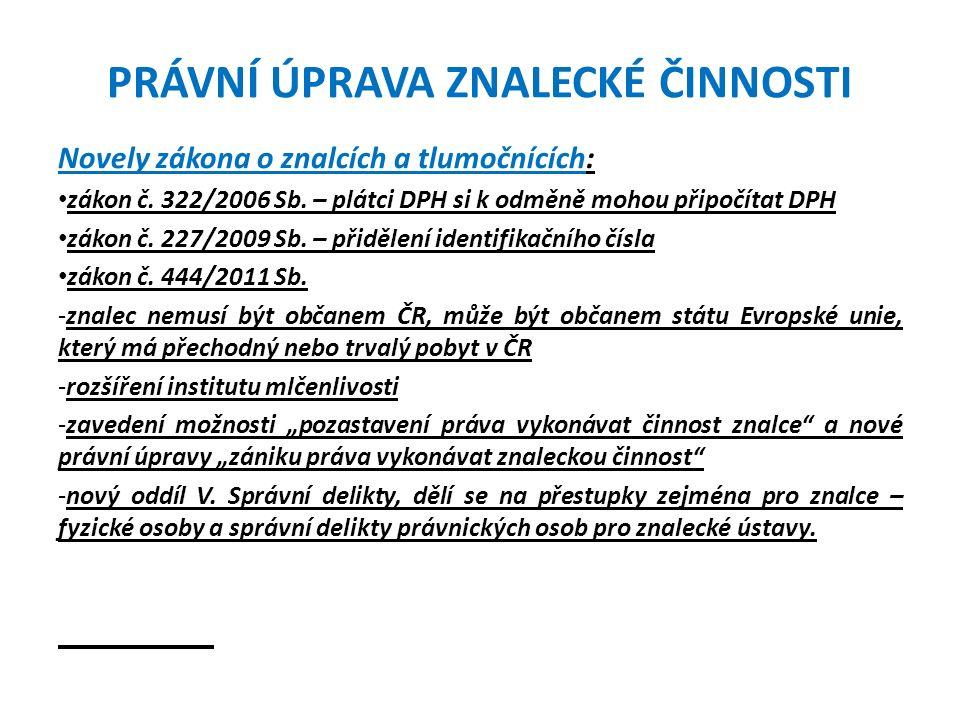 OBČANSKOPRÁVNÍ ODPOVĚDNOST ZNALCE Rozsudek Nejvyššího soudu sp.zn.