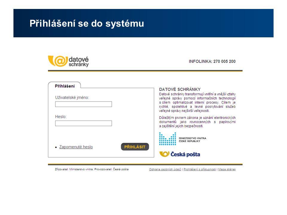 Přihlášení se do systému