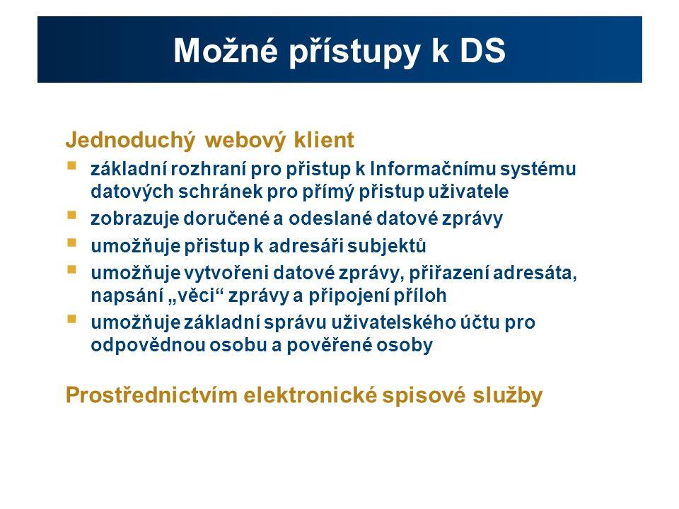 Náklady spojené s využíváním ISDS ●OVM se podílejí na úhradě nákladů spojených s provozováním systému ISDS: ●běžně: formou platby za jednu odeslanou DZ = = tzv.