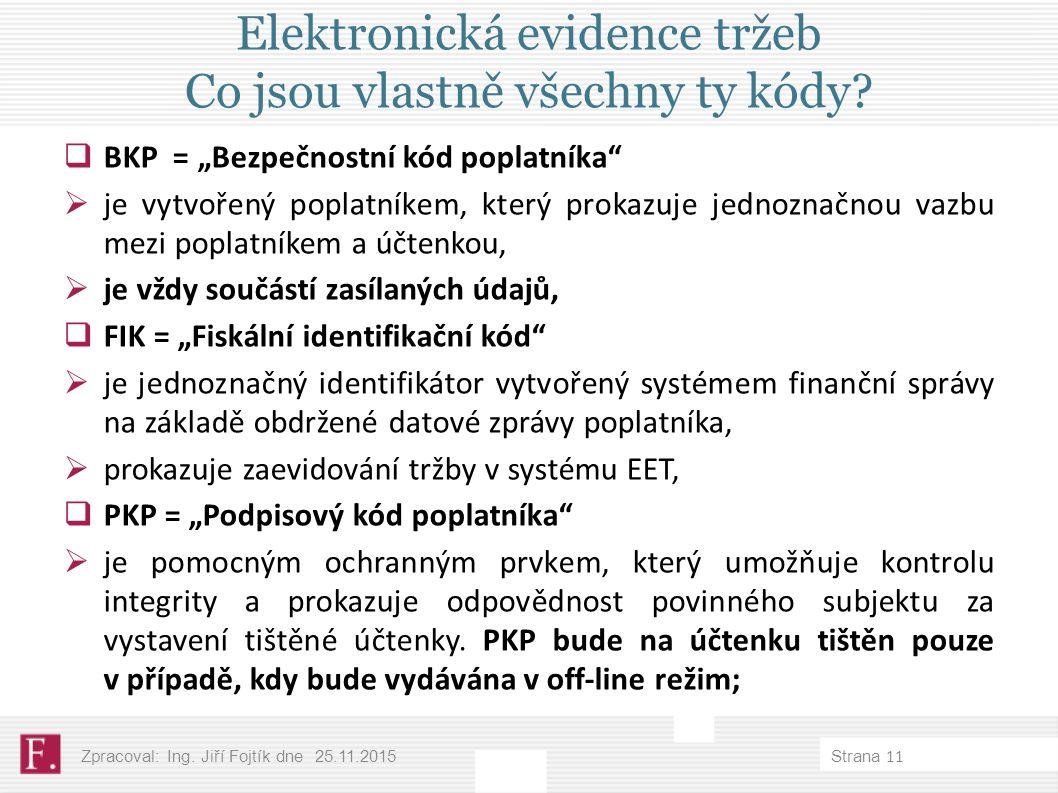 Elektronická evidence tržeb Co jsou vlastně všechny ty kódy.