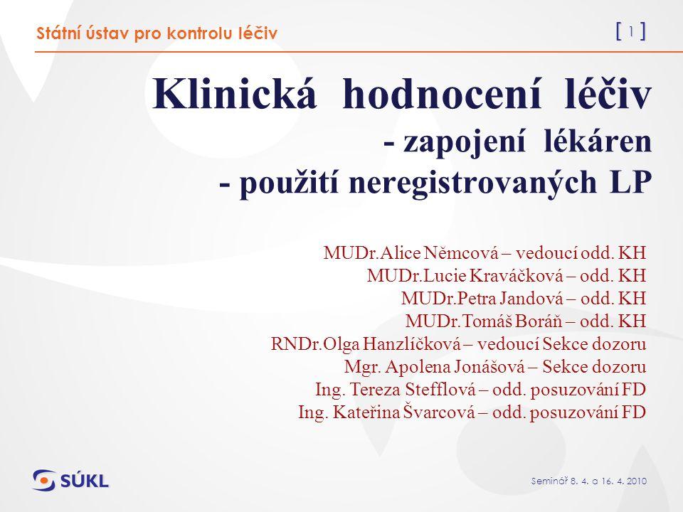 [ 82 ] Seminář 8.4. a 16. 4. 2010 Vyhláška č.