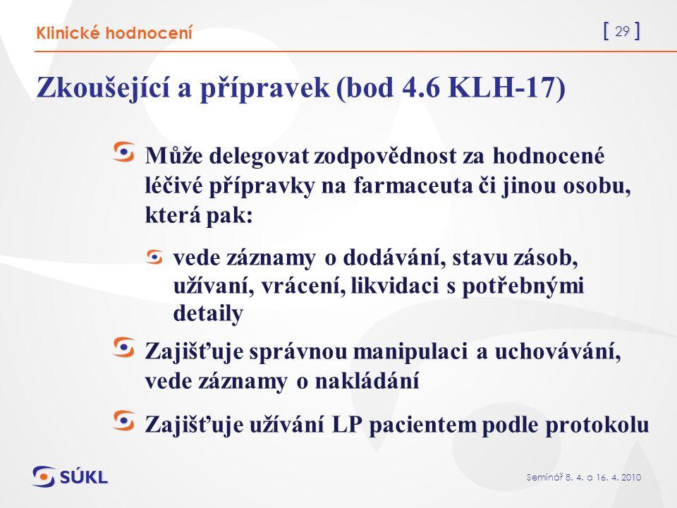 [ 29 ] Seminář 8. 4. a 16. 4.
