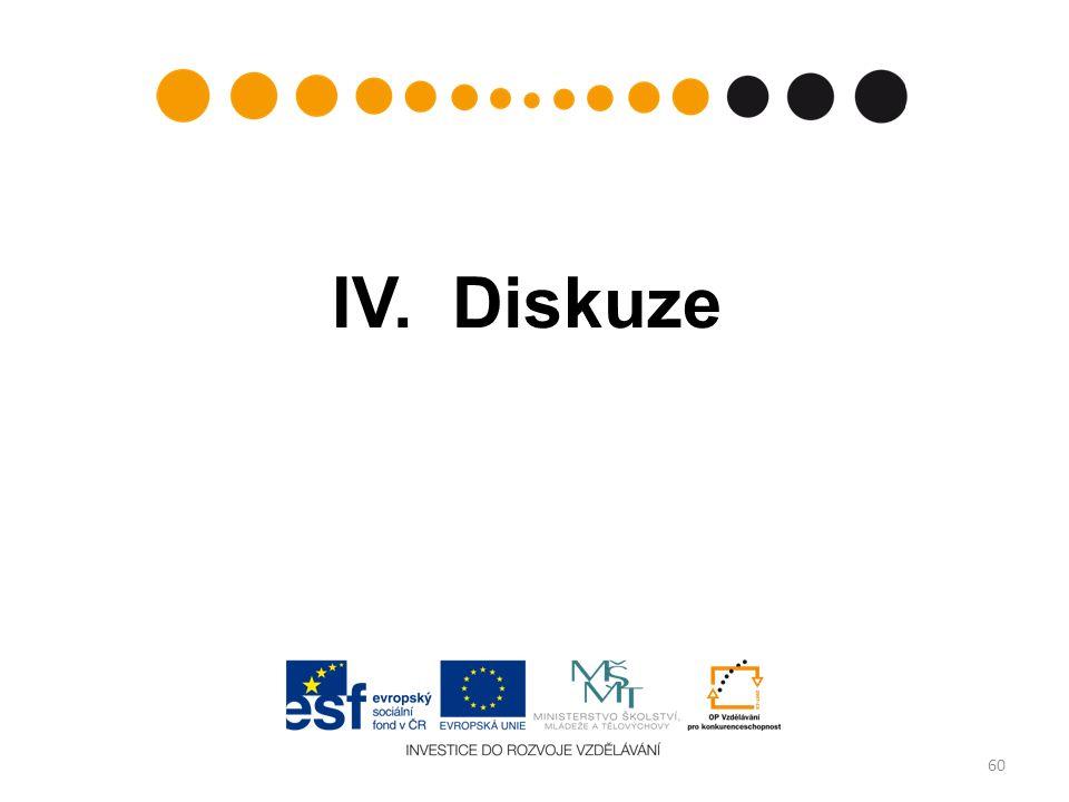 IV. Diskuze 60