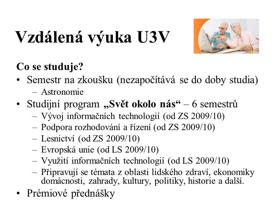 Vzdálená výuka U3V Co se studuje.