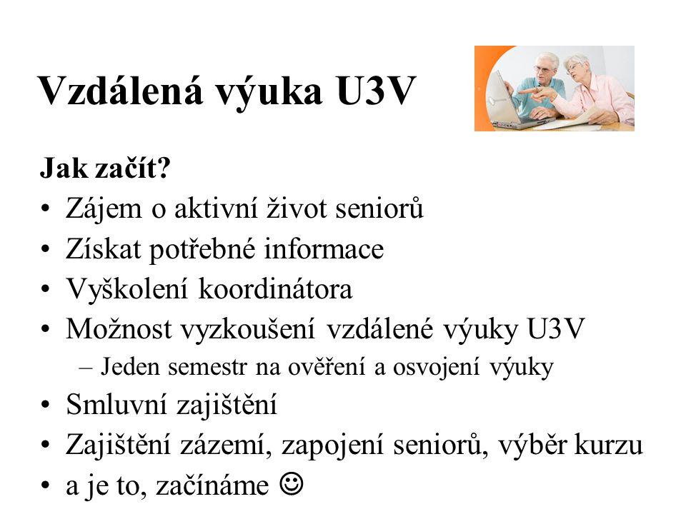 Vzdálená výuka U3V Jak začít.