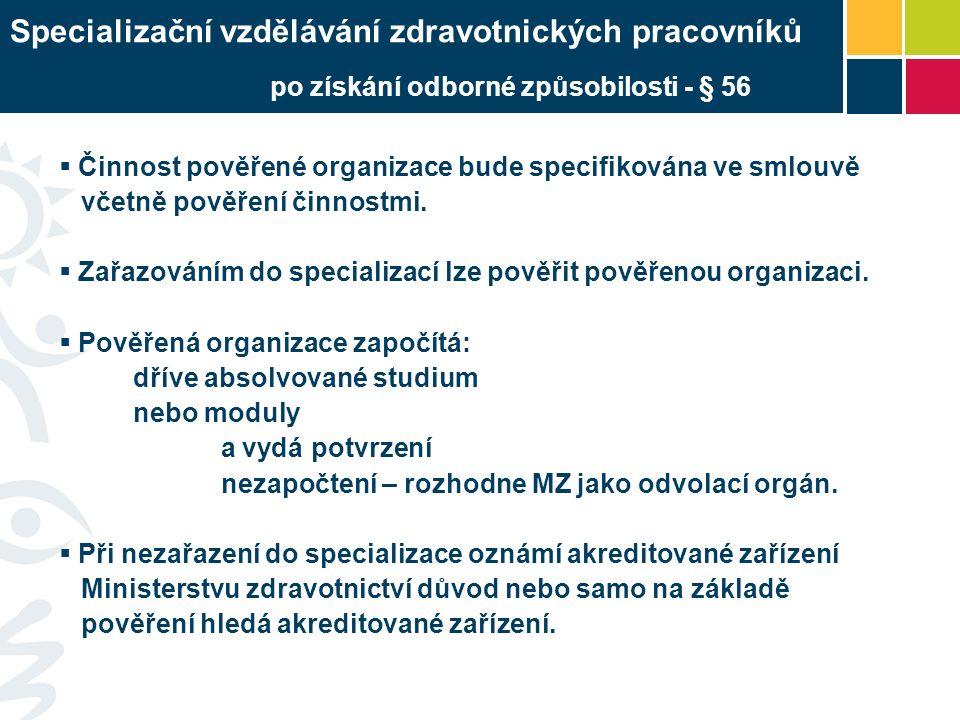 Činnost pověřené organizace bude specifikována ve smlouvě včetně pověření činnostmi.