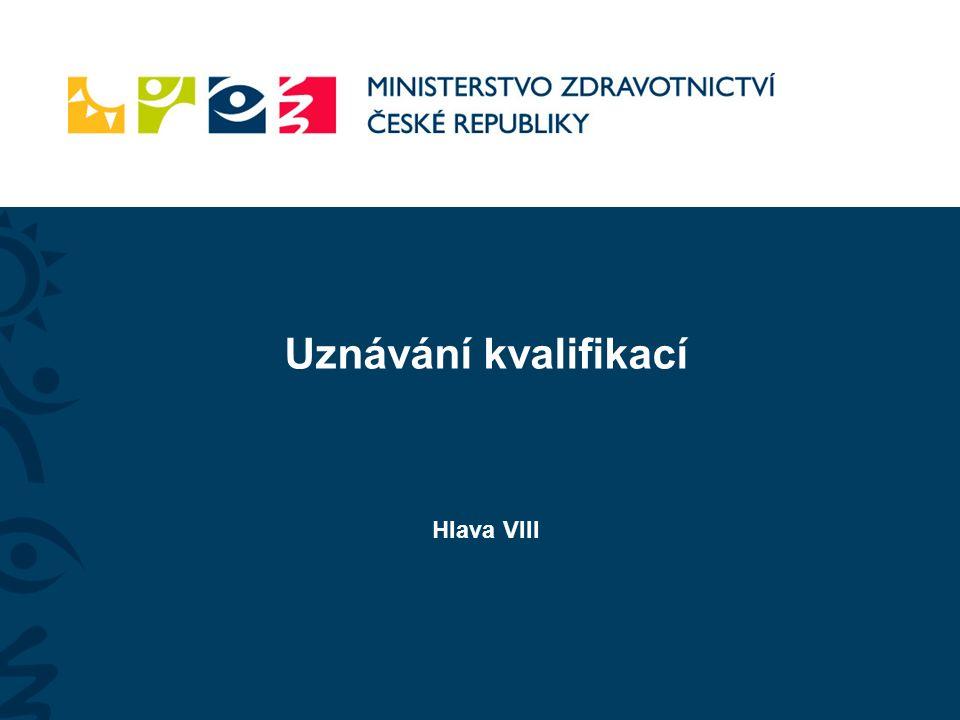 Uznávání kvalifikací Hlava VIII
