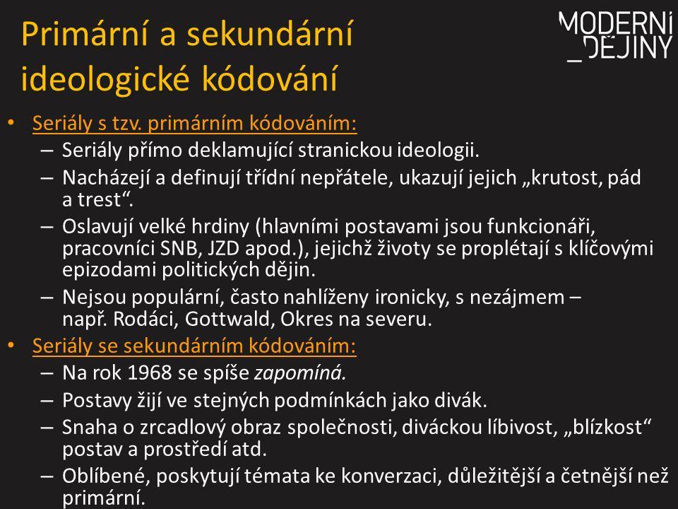 Primární a sekundární ideologické kódování Seriály s tzv.
