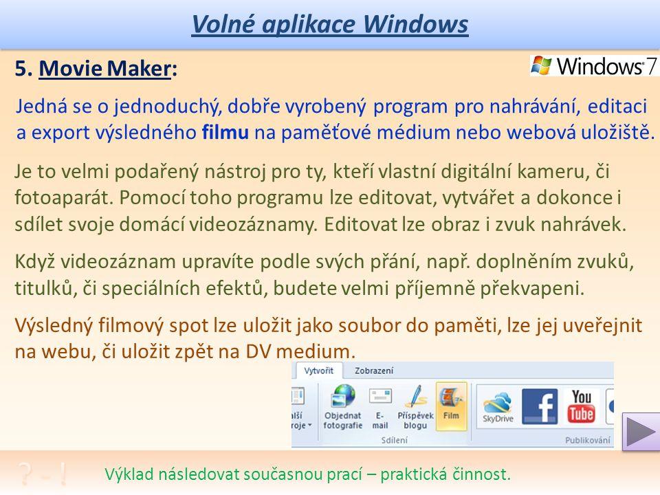Volné aplikace Windows Program pro vypalování disků CD a DVD.