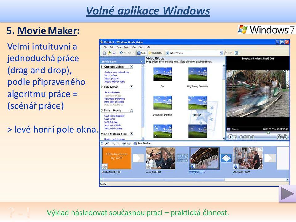 Volné aplikace Windows 5.