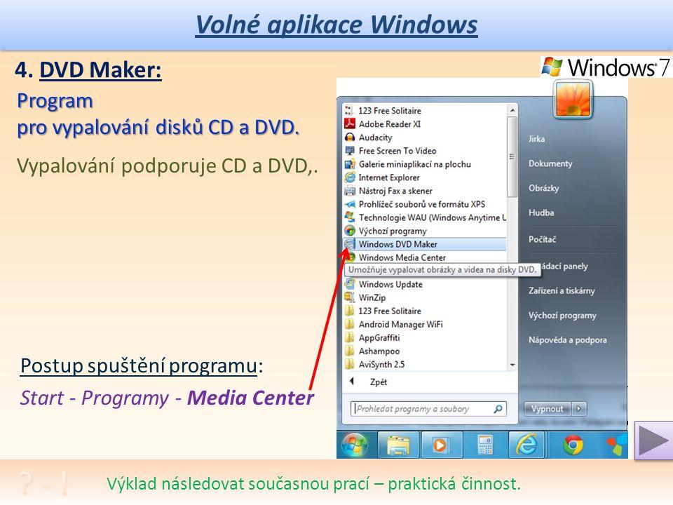 Volné aplikace Windows Další, ale komplexní program pro přehrávání multimediálních klipů.