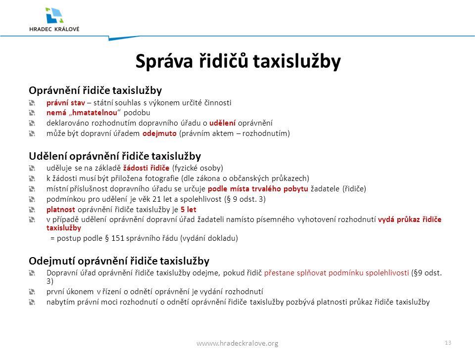 12 wwww.hradeckralove.org Přechodná ustanovení I.