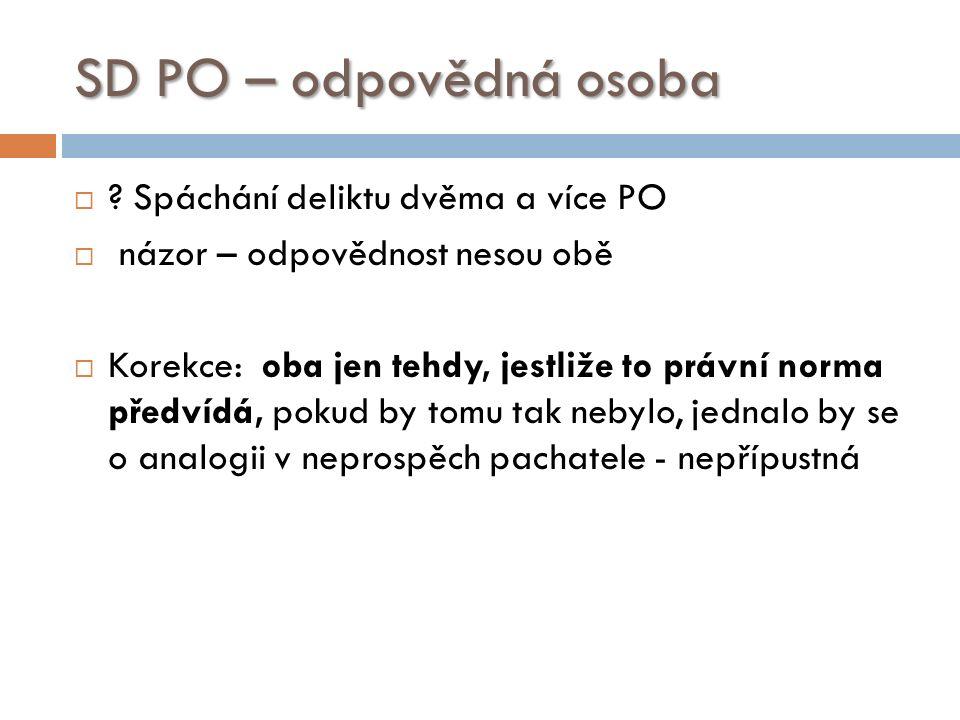 SD PO – odpovědná osoba  .