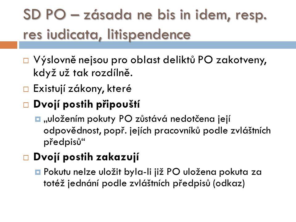 SD PO – zásada ne bis in idem, resp.