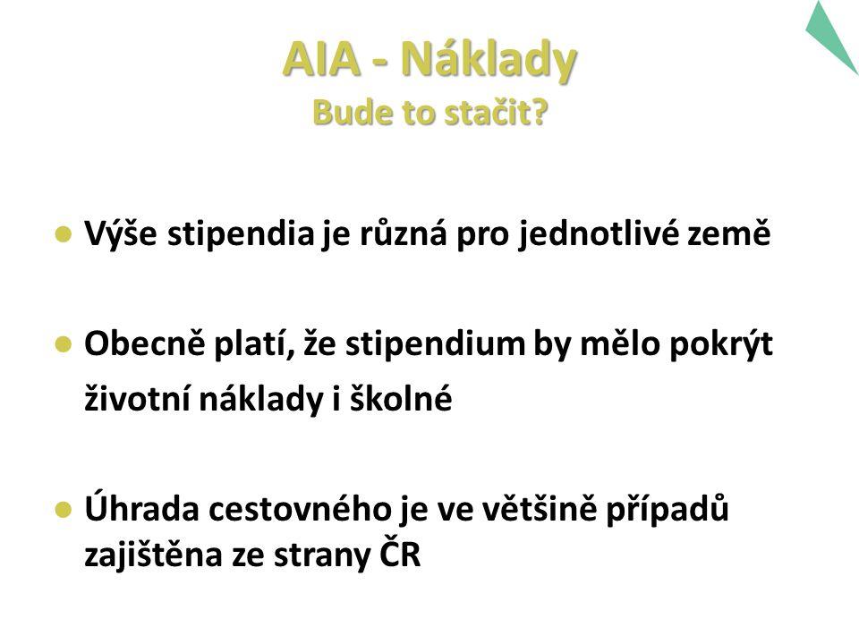 AIA - Náklady Bude to stačit.